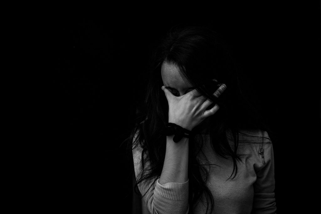 Woman coping with Grief