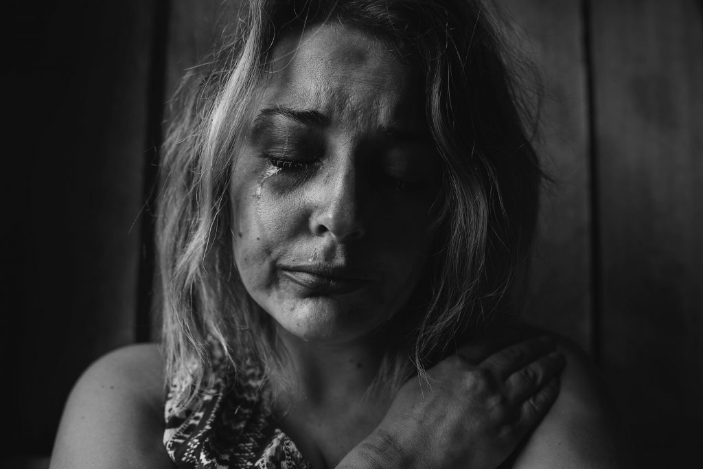 photo of woman crying